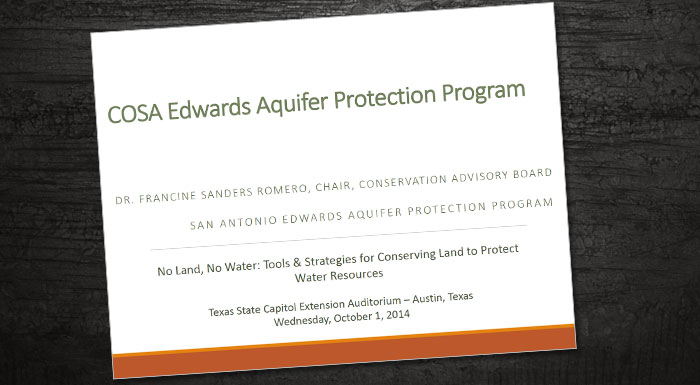 COSA Edwards Aquifer Presentation