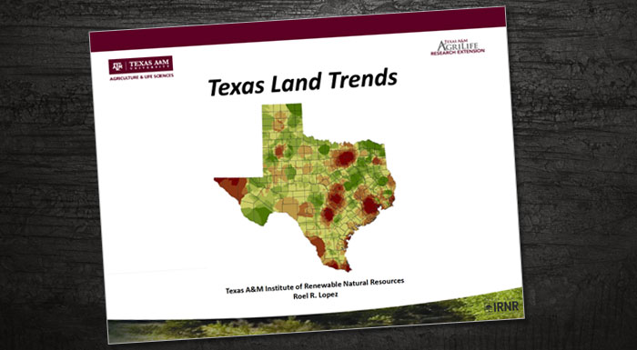 Map Of Texas Natural Resources.Texas Land Trends Presentation No Land No Water